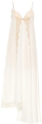 Stella McCartney Lace-trimmed silk slip dress