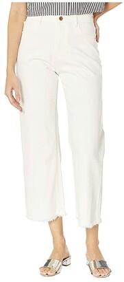 DL1961 Hepburn High-Rise Wide Leg in Eggshell (Eggshell) Women's Jeans