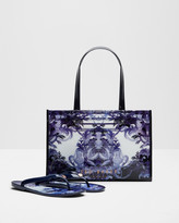 Ted Baker Persian Blue flip flop and shopper bag set