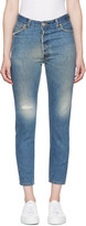 RE/DONE Re-done Blue High-rise Ankle Crop Jeans