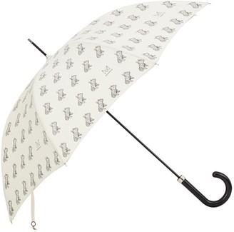Marokka Design French Bull Dog Geometric Style Umbrella - Frank on a Black Frame With Black Dog On Cream Background