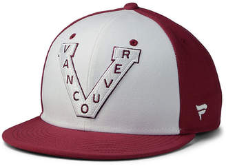 Authentic Nhl Headwear Vancouver Millionaires Tri-Color Throwback Snapback Cap