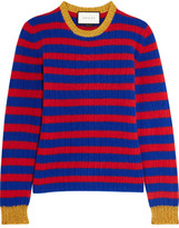 Gucci Striped Cashmere And Wool-blend Sweater - Red