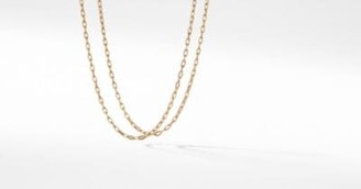 David Yurman Dy Madison Chain Thin Necklace In 18K Gold, 3Mm