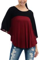 Celeste Burgundy & Black Colorblock Top