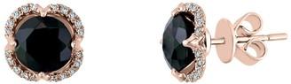 Effy Jewelry Onyx Earrings with Diamonds in 14K Rose Gold, 2.82 TWC