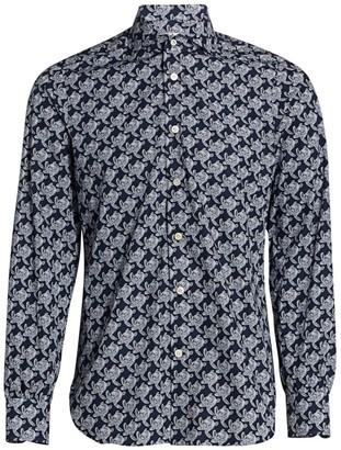 Kiton Large Turtle-Print Shirt