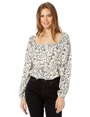 The Fifth Label Women's Dahlia Long Sleeve Square Neck Blouse Top