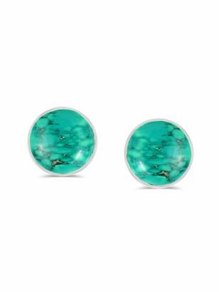 Tishavi Natural Turquoise Earrings Studs Sterling Silver for Her Women Mom Wife Girlfriend Teens