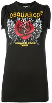 DSQUARED2 Thunder Rose Tour print tank top