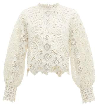 Sea Rosalie Guipure Lace Blouse - Womens - Ivory
