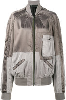 Haider Ackermann panelled bomber jacket - women - Cotton/Rayon - XS