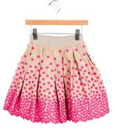 MonnaLisa Girls' Embroidered Circle Skirt
