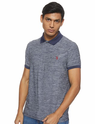 U.S. Polo Assn. Men's Fit Solid Short Sleeve Poly Pique Polo Shirt