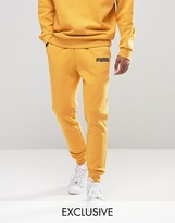 Puma Skinny Lounge Joggers In Yellow Exclusive To Asos