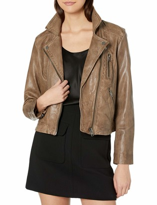 Lucky Brand Women's Core Moto Worn Leather Jacket