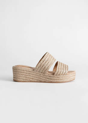 And other stories Duo Strap Woven Jute Wedges