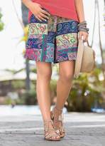 Together Boho Print Jersey Shorts