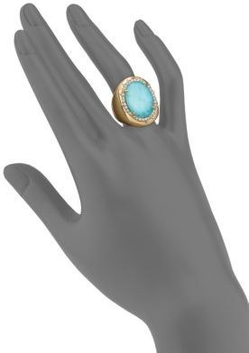 Alexis Bittar Elements Turquoise & Crystal Ring