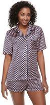 Apt. 9 Women's Pajamas: Satin Short Sleeve Top & Shorts PJ Set