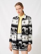 Maje Reversible jacquard coat