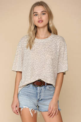By Together Leopard Short Sleeve Crew Tee