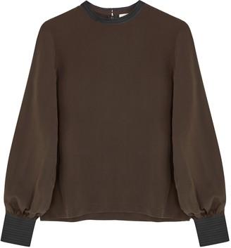 BODICE Brown Silk Blouse
