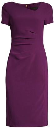 Donna Karan Ruched Side Sheath Dress