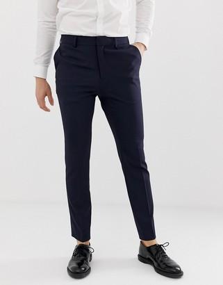New Look smart slim trousers in navy