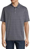 Haggar Short Sleeve Grid Knit Polo Shirt-Big and Tall