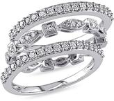 Julie Leah 2/3 CT TW Diamond 10K White Gold Vintage-Style Stackable Ring Set