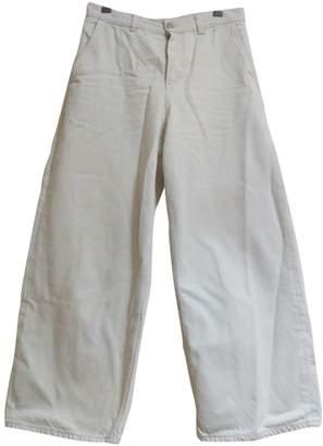Cos Ecru Cotton Jeans for Women