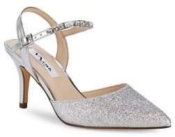 Nina Tonya Embellished Ankle Strap Pumps