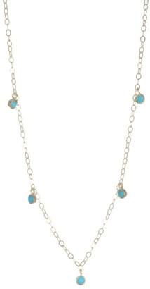 Ila Deborah Turquoise & 14K Gold Necklace