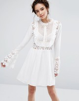 Endless Rose Bell Sleeve Dress with Tied Ribbon