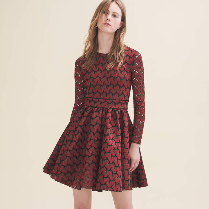Maje Bonded lace dress