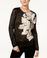 INC International Concepts Floral-Print Sweater, Only at Macy's