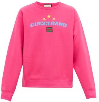 Gucci Logo-print Cotton Sweatshirt - Pink
