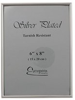 Evergreen Tarnish Resistant Silver Plated Thin Edge Photo/Picture Frame, 6x8 inch