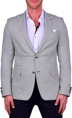 Maceoo Beethoven Regular Fit Check Sport Coat