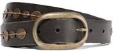 Maje Embellished Leather Belt