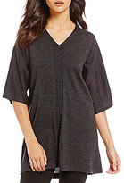 Eileen Fisher V-Neck Elbow Sleeve Tunic