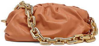 Bottega Veneta Medium Chain Shoulder Pouch in Clay & Gold | FWRD