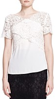 The Kooples Crossover Lace Top