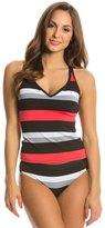 Jag Newport Stripe Crisscross Back Tankini Top 8138449