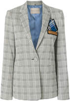 Marco De Vincenzo patch embellished plaid blazer