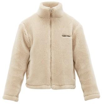 Ambush Logo-embroidered Wool-fleece Jacket - Beige