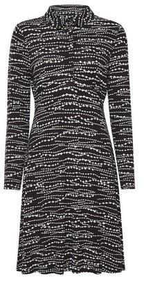 Dorothy Perkins Womens Black Bead Print Jersey Shirt Dress, Black