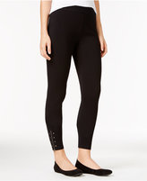 Style&Co. Style & Co. Studded Zippered Leggings, Only at Macy's