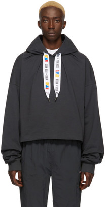 Reebok by Pyer Moss Grey Collection 3 Jersey Hoodie